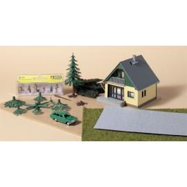 Дом, машина, украшения (дома) Auhagen 10001