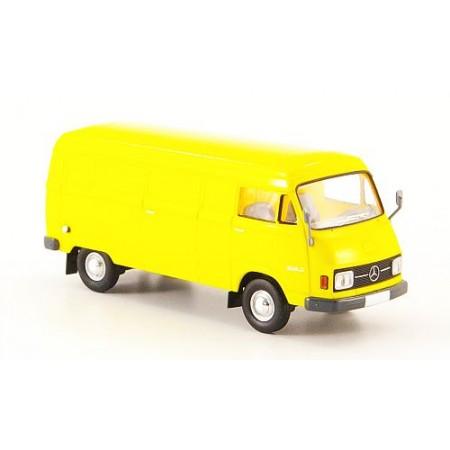Автомодель Mercedes L 206D Kasten желтый 1970 BREKINA 13301