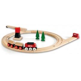 Детский развивающий конструктор Грузовой поезд Brio 33010