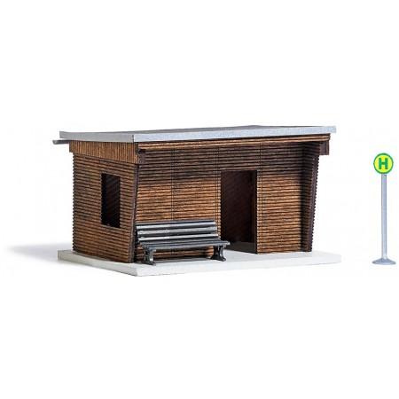 Деревянная автобусная остановка Busch 1458