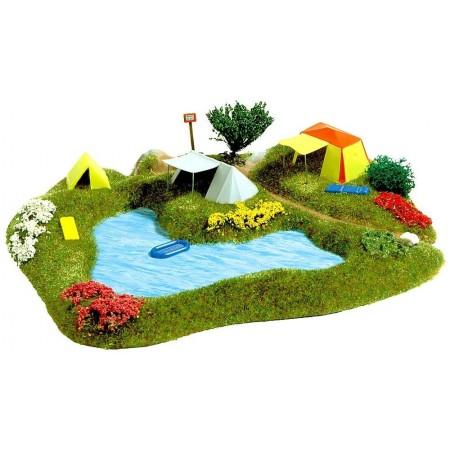 """Композиция """"Палатки на берегу озера"""" Busch 3108"""