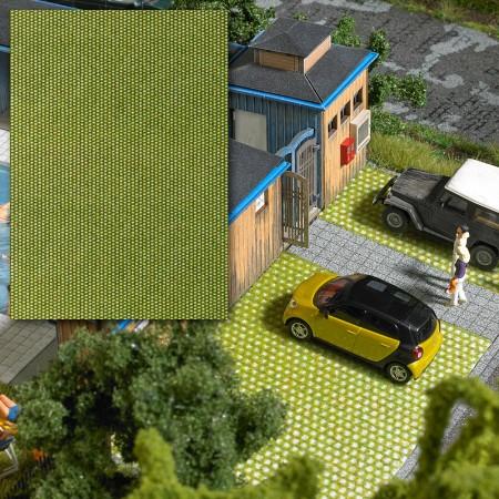 Панель из булыжника с отверстиями для травы Busch 7431