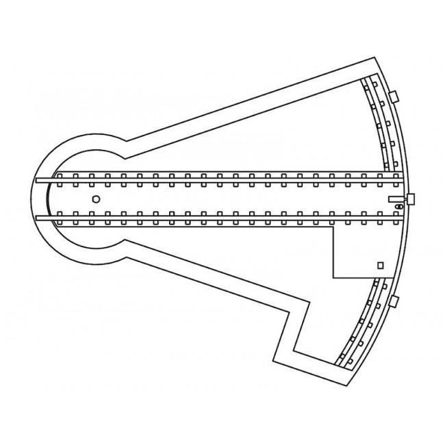 Поворотный сегмент на три пути Faller 120275