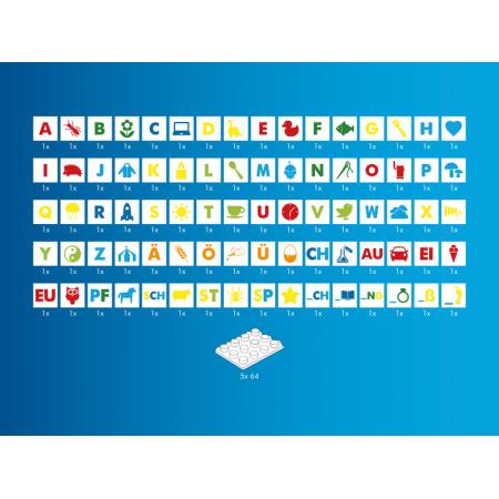 Детский конструктор Изучаем буквы Hubelino 410016