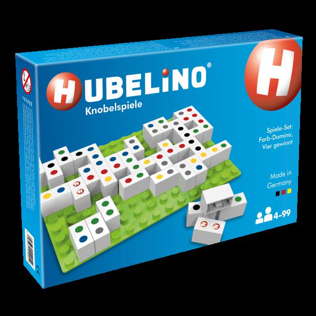 Детский конструктор Набор игр: Rainbow Dominoes & Match Four Hubelino 410054