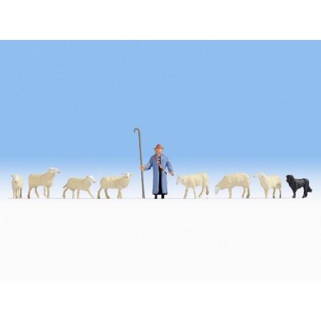 Набор фигурок Пастух с овцами Noch 15748