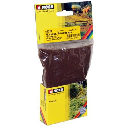 Тонирующая темно-коричневая посыпка (мелкий флок) для ландшафта Noch 07227