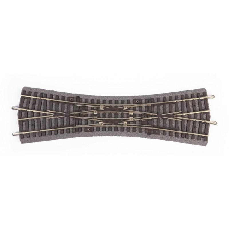 Английская перекрестная стрелка на балласте PIKO 55424