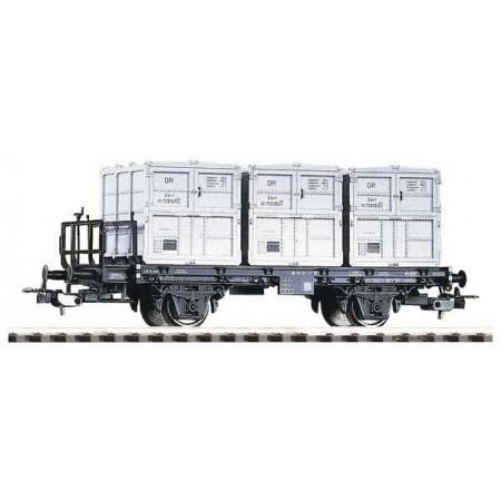Грузовая платформа BT91 и 3 контейнера DR III PIKO 54420