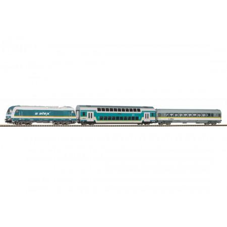 Стартовый аналоговый набор Пассажирский поезд ALEX PIKO 57139