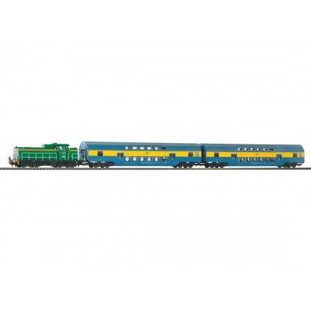 Стартовый аналоговый набор Пассажирский поезд PKP SM42 97934