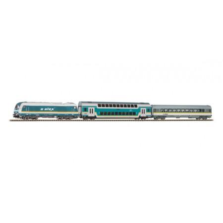Стартовый аналоговый набор Пассажирский поезд ALEX PIKO 57137