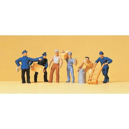 Набор фигурок Доставщики с грузом Preiser 14016
