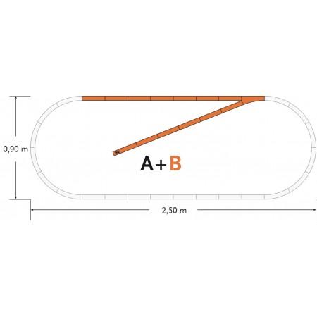 Набор рельс Roco Geoline B 61101