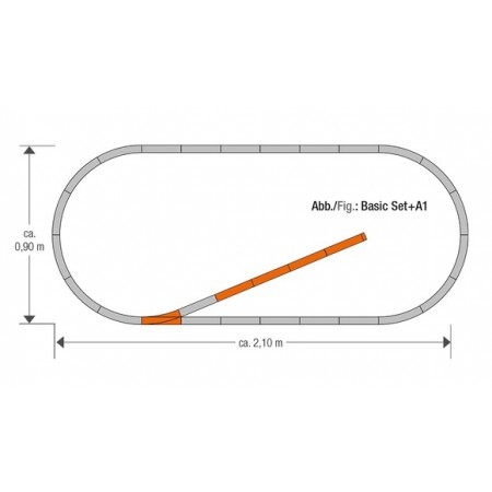 Набор рельс A1 Roco Geoline 61150
