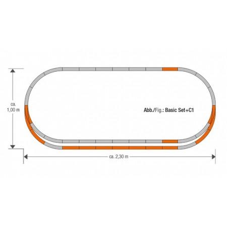 Набор рельс C1 Roco Geoline 61152
