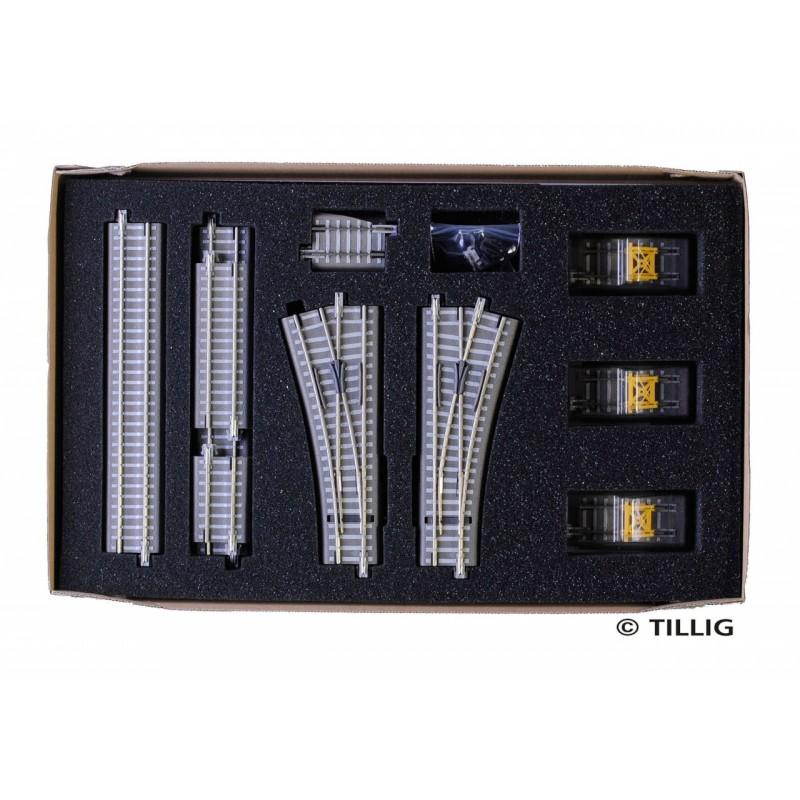 Набор балластного рельсового материала «Железнодорожный маневровый двор» Tillig 01836