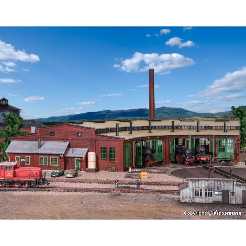 Веерное депо на 6 локомотивов Vollmer 45758